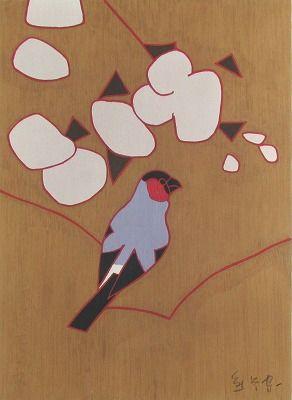 熊谷守一 『むくげの花』の作品価値・価格・販売